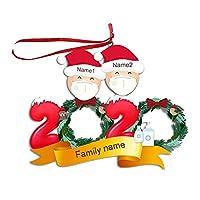 パーソナライズされたサバイバーファミリーDIYクリスマスツリーペンダント2020 2-6の家族のパーソナライズされたサバイバーファミリーDIY名祝福クリスマスツリーペンダント