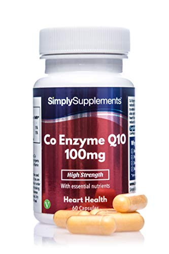 Coenzima Q10 100mg - ¡Bote para 2 meses! - Apto para veganos - 60 cápsulas - SimplySupplements