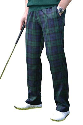 Black Watch Herren Golfhose mit Schottenkaro, Beininnenlänge 78,7 cm Gr. 38 DE/L, grün