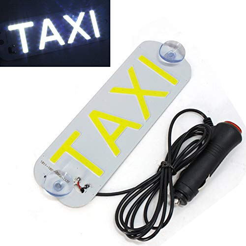 12v LED Taxi Parabrisas Parabrisas Blanco Signo Luz Coche Alto Brillo Lámpara Bombilla Con Disco de Succión