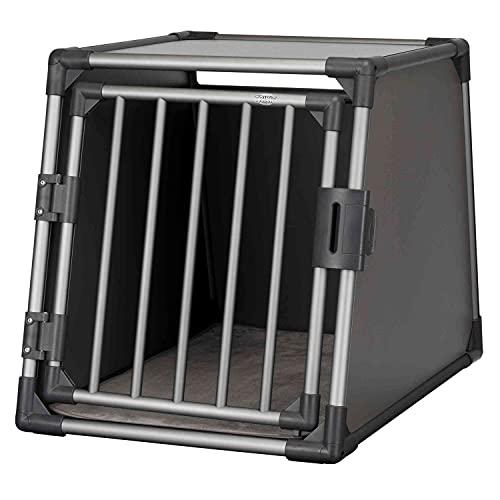 Trixie 39337 Transportbox, Aluminium, M–L: 61 × 65 × 86 cm, graphit