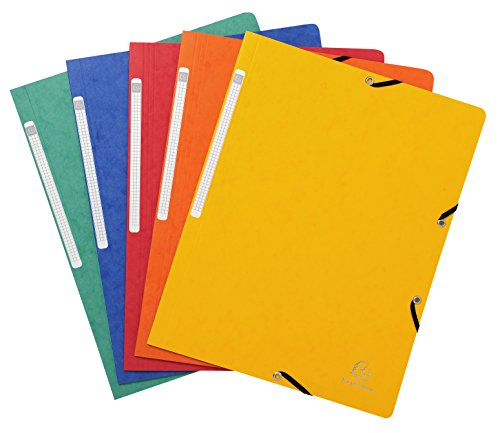 Exacompta 55410E - Pack de 10 carpetas con goma, multicolor