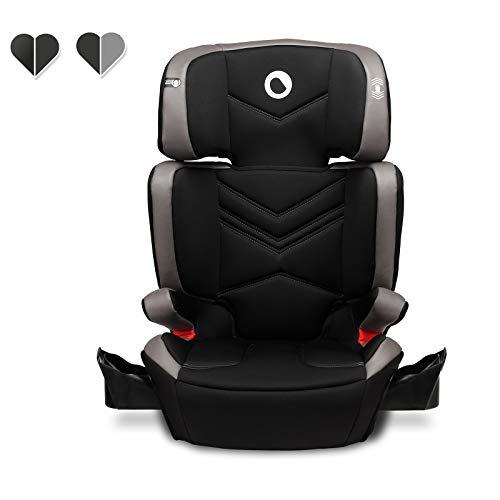 Lionelo Hugo Kindersitz mit ISOFIX, Autositz Gruppe 2-3 (15-36 kg), Sitzerhöhung, ECE R44/04 (Grau)
