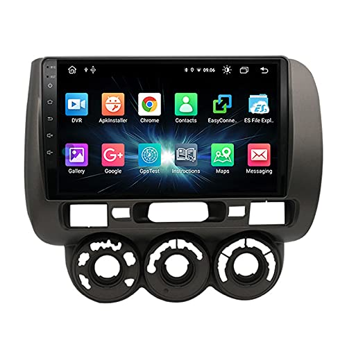 MGYQ Android 10.0 Car Stereo MP5 Player Head Unit 9 Inch Touchscreen with Rear Camera, Support GPS/DAB+/SWC/Bluetooth/Mirror Link/USB/Wifi/DSP, for Honda Fit Jazz 2004-2007,Quad core,4G WiFi 2+32