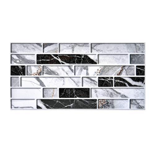 ACBungji 24 Stück Fliesenaufkleber Tapete Fliesen Aufkleber 20 x 10cm Selbstklebende Wandaufkleber Mosaik PVC Fliesenfolie DIY Deko für Fliesen, Küche, Bad, Holzoberflächen und Treppen