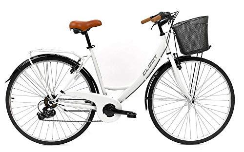 CLOOT Bicicleta Paseo Relax 700 Shimano 6V Blanca