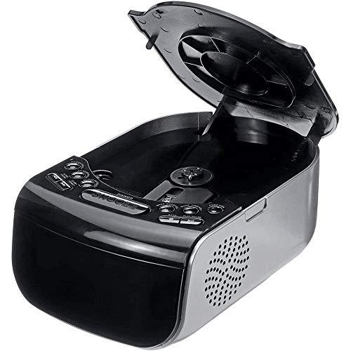 Nanyun Digitale wekker voor kamer, FM-radio, led-display, eenvoudig sluimeren, wakker maken, AM/FM-radio, CD muziekspeler, machine, USB-poort, helderheid verstelbaar