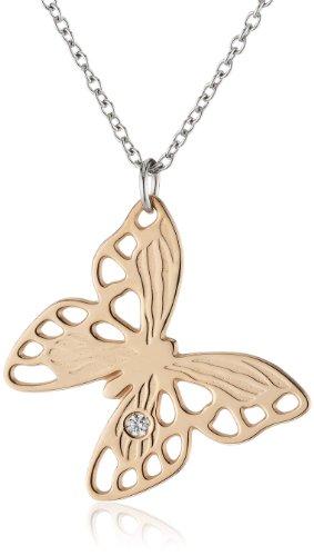 Nomination Butterfly - Collar de Acero Inoxidable con Cristal Swarovski