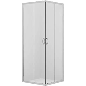 Forte Mampara de Ducha 75x75CM H185 PVC Mod. Energy Central: Amazon.es: Hogar