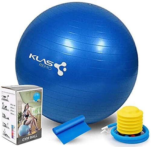 KLAS Remo - Palla per esercizi anti-esplosione, palla da pilates da 55 cm, per yoga, equilibrio, fitness, gravidanza