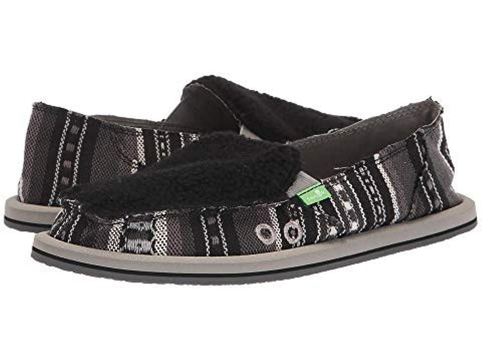 石化する続編自分自身レディースローファー?靴 Donna Sherpa Blanket Black/White Blanket (24cm) B - Medium [並行輸入品]