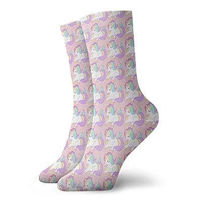 Elsaone Chicos Chicas Locos Divertidos Calcetines Unicornio Mágico Arco Iris Calcetines Lindos de Novedad
