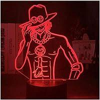 3Dイリュージョンナイトライト アニメキャラクター スマートタッチ キッズベッドサイドランプ7色段階的に変化するタッチスイッチ3Dナイトライトキッズ目の錯覚ランプキッズランプギフトのアイデアとして女の子