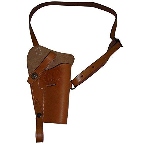 warreplica U.S. WWII M3 Brown Leather Shoulder Holster -...