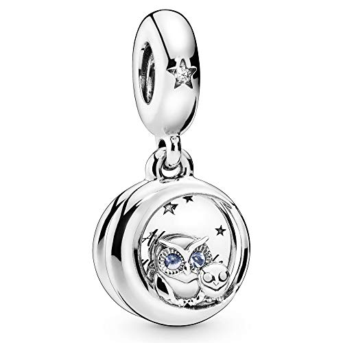 Pandora Jewelry Always by Your Side Owl Dangle Cubic Zirconia Charm in Sterling Silver
