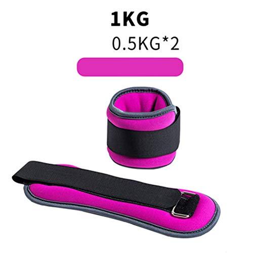 SYZD - Fußgelenkmanschetten für Krafttraining in Pink, Größe 1kg