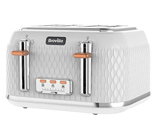 Breville Curve Toaster mit 4 Schlitzen, 1650 W, Weiß