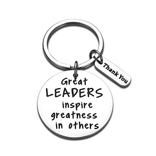 Leader Appreciation Keychain for Men Women Boss Lady Boss Day Birthday Gifts for Supervisor Team Manager Mentor PM Thank You Retirement Leaving Farewell Presents for Coworker Colleague Friend