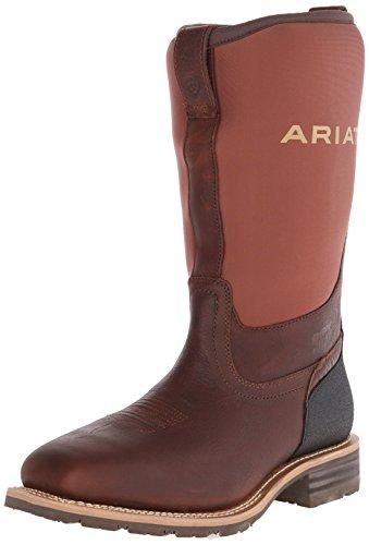 ARIAT Men's Hybrid All-Weather Waterproof Steel Toe Work Boots Western, Oiled Brown, 11.5