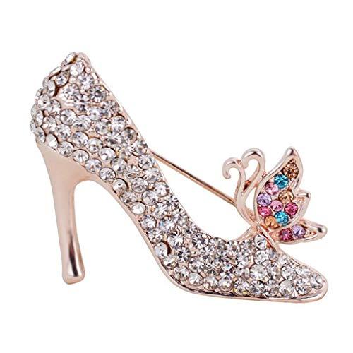 Elegantes zapatos de novia de pernos de las broches de cristal Rhinestone nupcial multicolor broche del mantón de las bufandas de clip for la joyería de las señoras de las mujeres por Broches y alfile