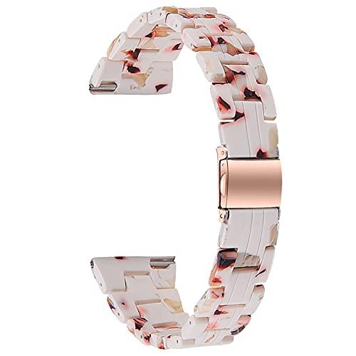Correa De Reloj Compatible con Galaxy Watch 3, Pulseras De Resina, Bandas De Repuesto Pulsera Impresa Joyería Mujer Hombre Compatible con Galaxy Watch 3 Reloj Inteligente,L,41mm