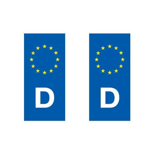 Adhesivo decorativo, diseño de placa de matrícula países europeos eurologo Auto, España