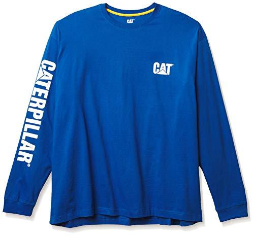 Caterpillar Men's Trademark Banner Long Sleeve Tee, Memphis Blue, 2XL