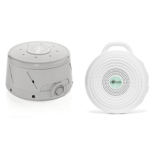 Marpac All-Natural White Noise Sound Machine Home and Away Bundle , Gray