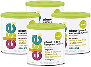 (4-Pack) Else Plant-Based Complete Nutrition Formula for Toddlers 12 mo.+, 22 Oz., Dairy-Free, Soy-Free, Co...