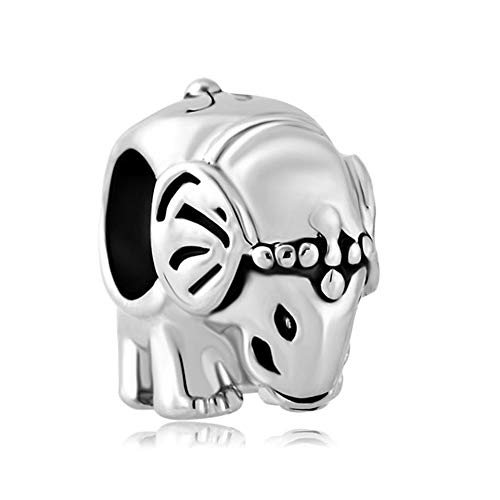 Poetic Charms in argento Sterling 925buona fortuna elefanti Dado E Baby animale Bead Charm per bracciali e Argento, cod. Poe_DPC_MYSS634
