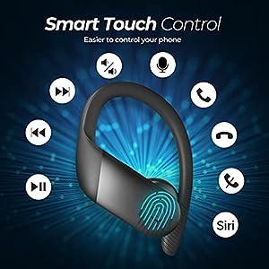 Wireless Earbuds Sport, Mpow Flame Lite in Ear Bluetooth Earbuds Sport, Bass+ IPX7 Waterproof Sport Earphones, BT5.0/Touch Control/Mono&Twin Mode/30H Playtime/USB-C Charging Case/Built-in Mics,Black