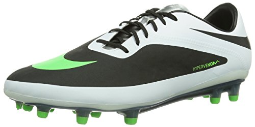 Nike Hypervenom Phatal Fg, Scarpe da Calcio Uomo, Multicolore (Mehrfarbig (Black/Neon Lime-White-Metallic Silver), 41