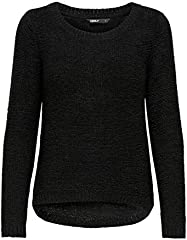 Only onlGEENA XO L/S PULLOVER KNT NOOS, Suéter para Mujer, Negro (Black), M