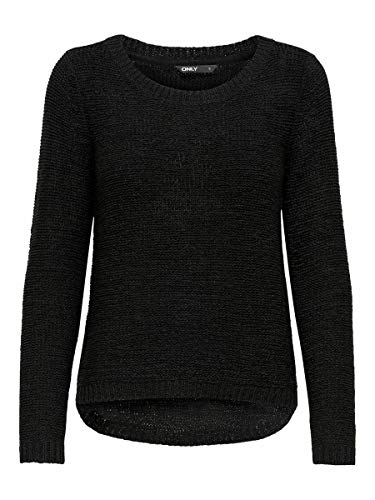 Only onlGEENA XO L/S PULLOVER KNT NOOS, Suéter para Mujer, Negro (Black), L
