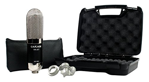Cascade Microphones VIN-JET - Black/Nickel Ribbon Microphone, Black...