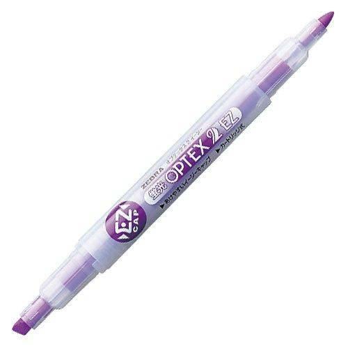 ゼブラ 蛍光オプテックス2-EZ 紫 WKT11-PU 5個セット