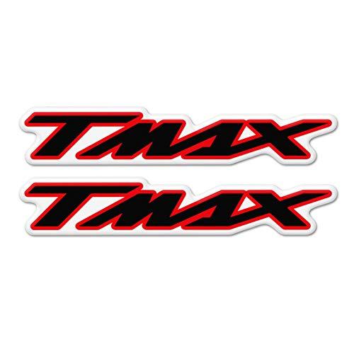 Qwjdsb For Yamaha X MAX XMAX X MAX 125 250 300 400, Motorcycle Stickers 3D Mark Tank Decals Emblem Badge Tank Pad Protector Accessory