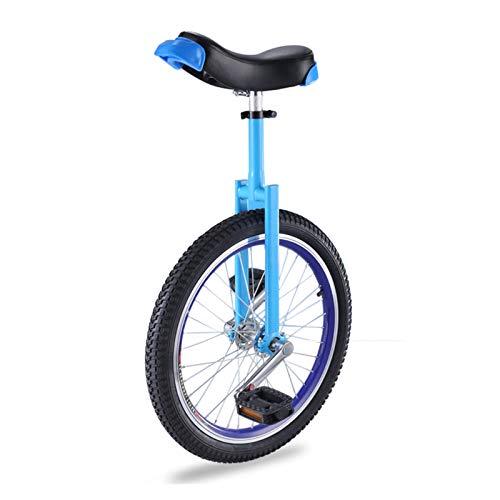 AHAI YU Uniciclos Azules para niño/niña/Mujer/Principiantes, Adultos Deportes al Aire Libre Una Rueda Bicicleta con Silla de Montar Ajustable, Mejor (Size : 20INCH Wheel)