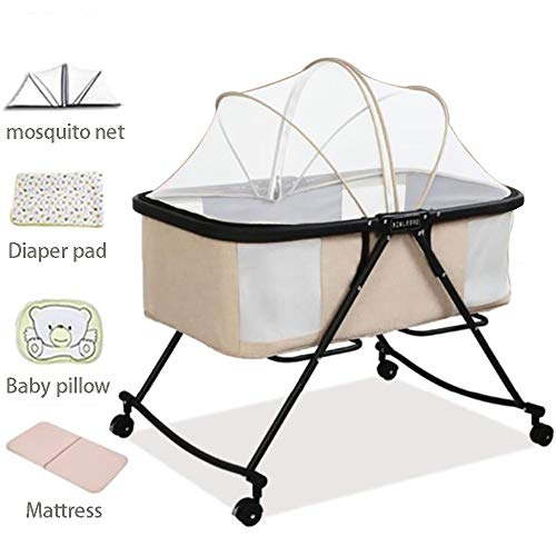 Learn More About DJR Portable Bedside Bassinet, Baby Folding Sleeping Bed, Baby Box Crib Mattress Ea...