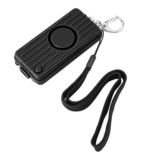 Personal Alarm Keychain, 130dB Selbstverteidigung Sicherheit Sound Alarm Keychain mit LED-Licht Notfall-Sicherheitsalarm für Frauen, Männer, Kinder, ältere Menschen(Schwarz)