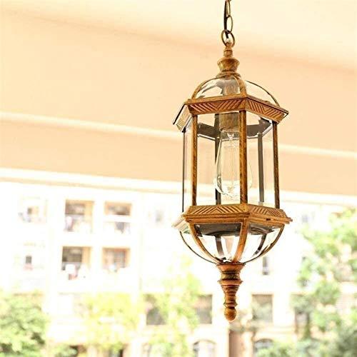 DC Wesley Araña, araña de jardín, araña de luces LED no tiene miedo de agua, propicio al marco de luz de cristal Balcón Jardín E27 uva Pabellón Corredor de la lámpara de techo ajustable del pórtico de