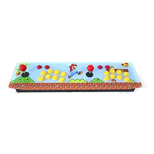 DINGSONGYANG RAC-T300 Dos Jugadores Retro Arcade Game Console Panel de Ilustraciones Caja de Metal 128g (Color : Artwork 4)