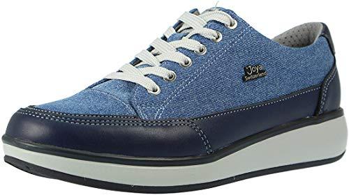 JOYA Damen Schnuerschuhe Damen Schnürschuhe Sonja Blue Jeans blau 90526