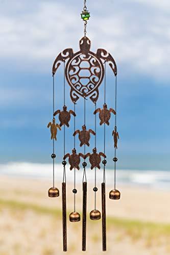 VP Home Tribal Tortugas al aire última intervensión jardín decoración campana de viento (cobre rústico)