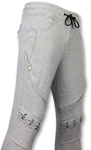 Casual Joggingbroek - Biker Braided - Grijs