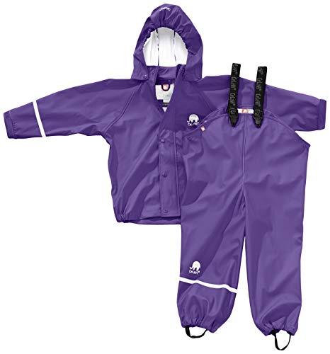 Celavi baby meisjes regenpak, jas en broek met bretels, leeftijd 18-24 maanden, maat: 90, kleur: lila, 1145