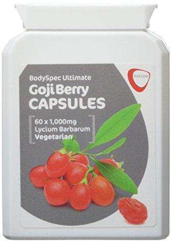 BodySpec Goji Berry Capsules 60 x 1,000 mg (250 mg of 4:1 extract)
