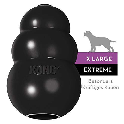 KONG - Extreme Gioco cani - Gomma naturale ultra resistente, nero - Masticare e riportare - XL