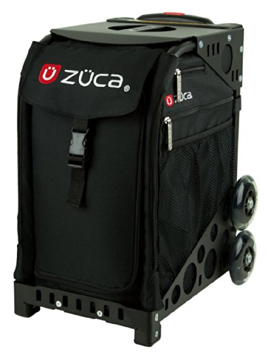 Review Of Zuca Obsidian Sport Insert Bag (Black w/red & White Logo Embroidery) with Black Non-Flashi...