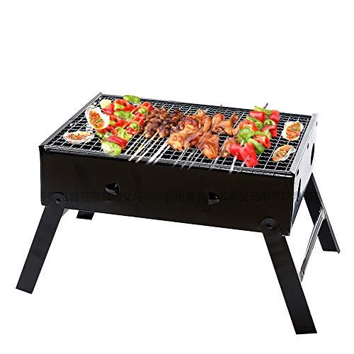 Kleine Barbecue Houtskool Barbecue Roestvrijstalen Barbecue Kachel Draagbare Opvouwbare Barbecue Tafel Desktop Voor Picknick Tuinterras Kampeertrip